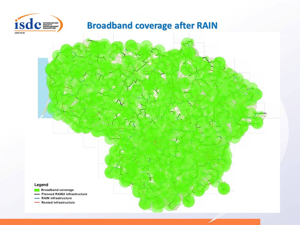 Broadband coverage after RAIN
