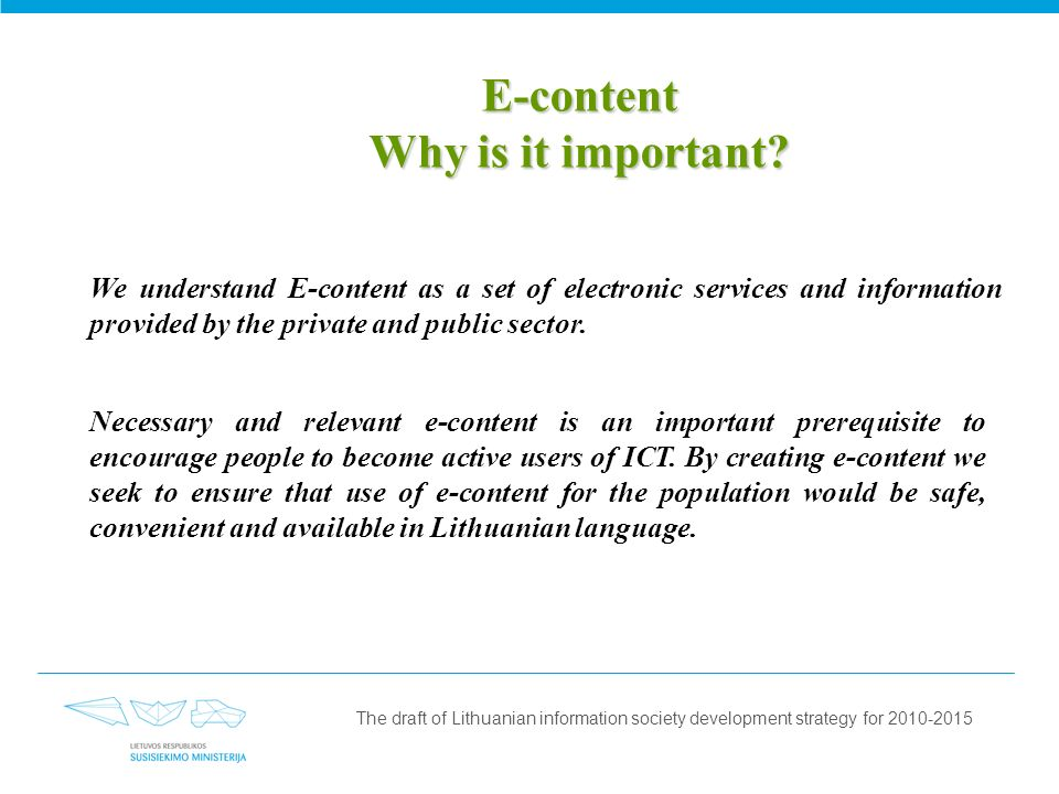 E-content Why is it important.