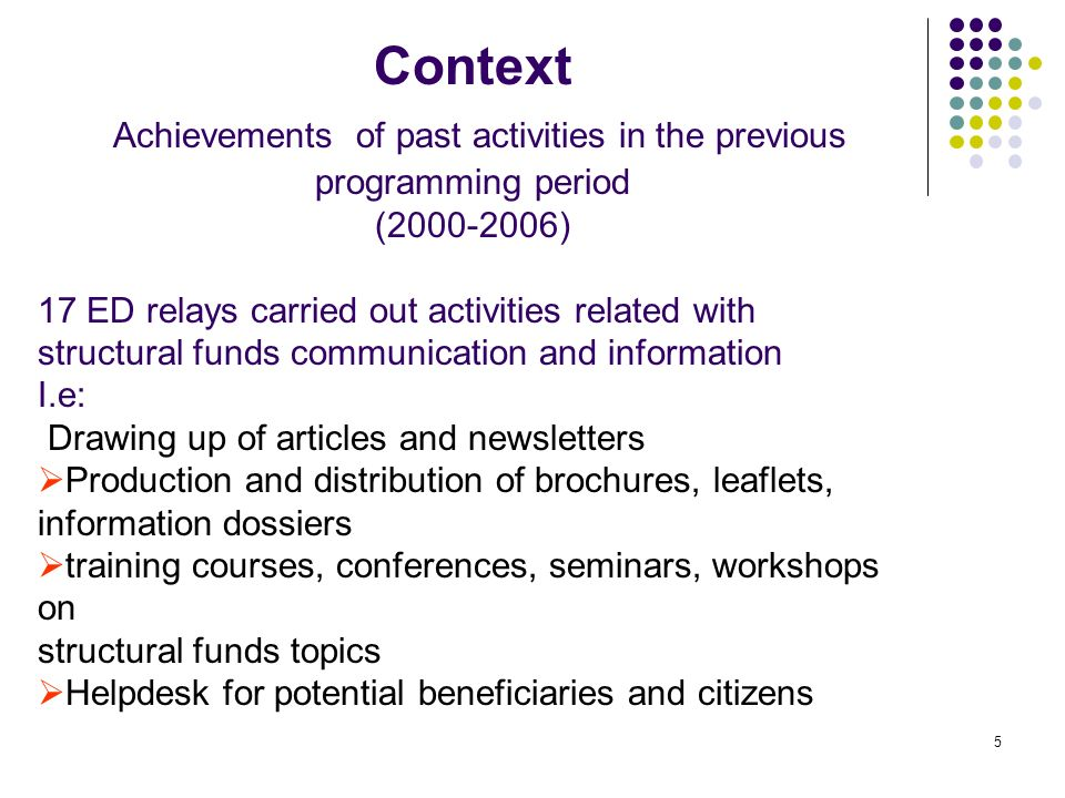 6 Context - The new Legal framework Regulation (CE) N.