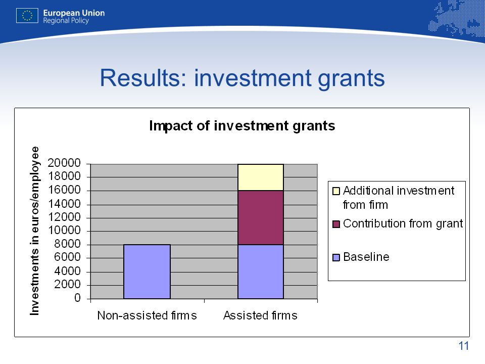 11 Results: investment grants