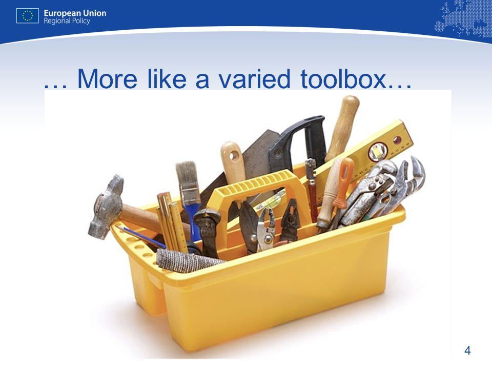 4 … More like a varied toolbox…