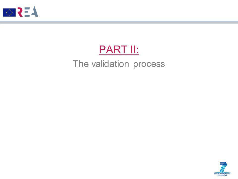 PART II: The validation process