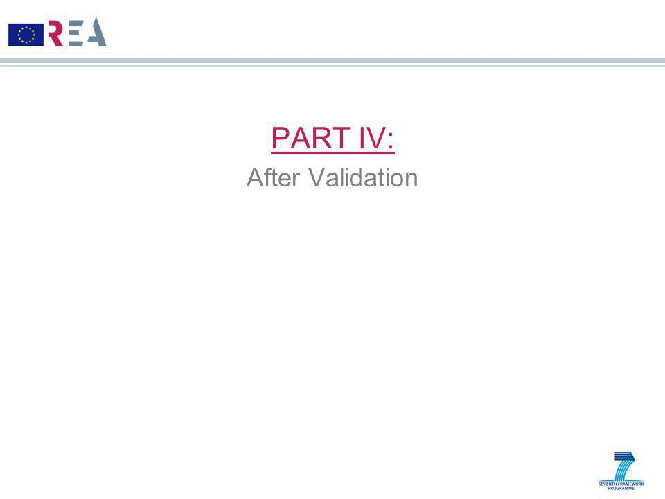 PART IV: After Validation