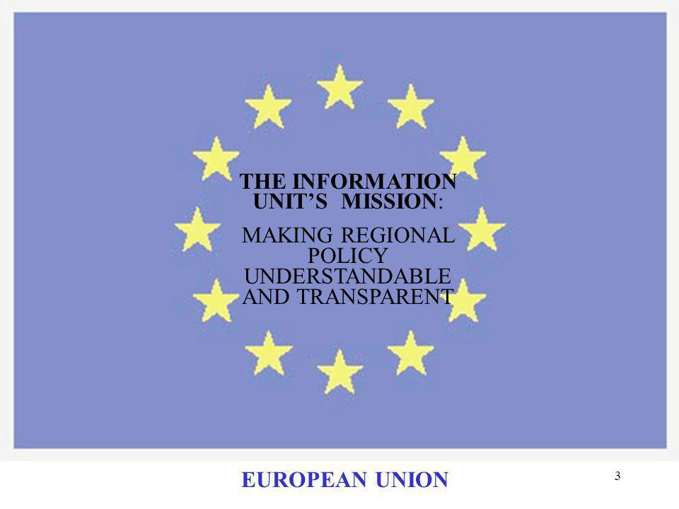 23 INFORMAL WORKING GROUP: PRESENTATION OF GOOD PRACTICE AT GRASS ROOTS LEVEL EUROPEAN UNION
