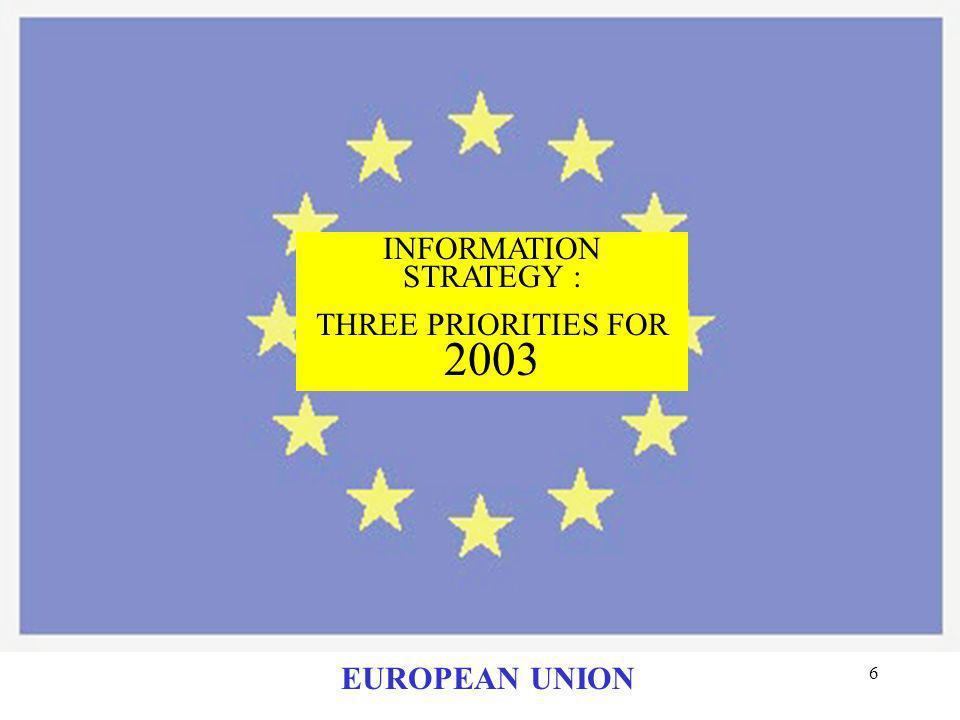 26 EUROPEAN UNION TO ACCESS CIRCA: PLEASE CONTACT : luisiana.mozzaglia @cec.eu.int