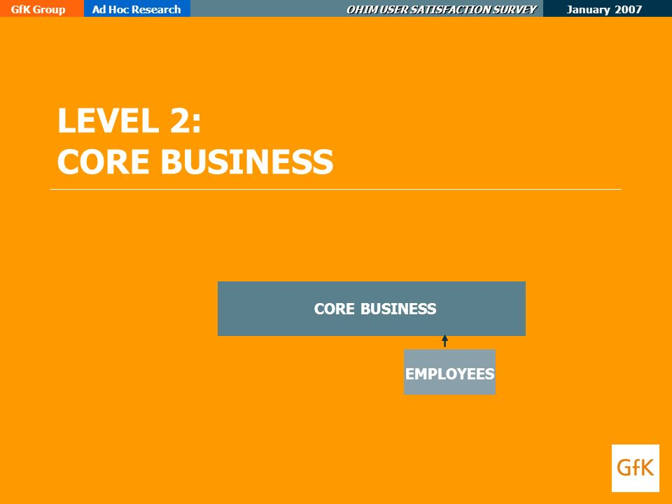 January 2007 GfK GroupAd Hoc Research OHIM USER SATISFACTION SURVEY LEVEL 2: CORE BUSINESS EMPLOYEES