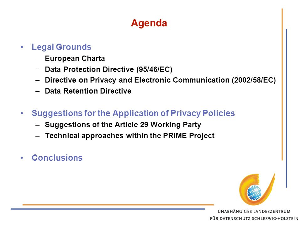 Directive 2002/58/EC – Directive on privacy and electronic communications Article 6 par.