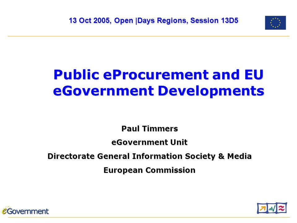 12 More… europa.eu.int/i2010 eGovernment research website europa.eu.int/egovernment_researchPaul.Timmers@cec.eu.int