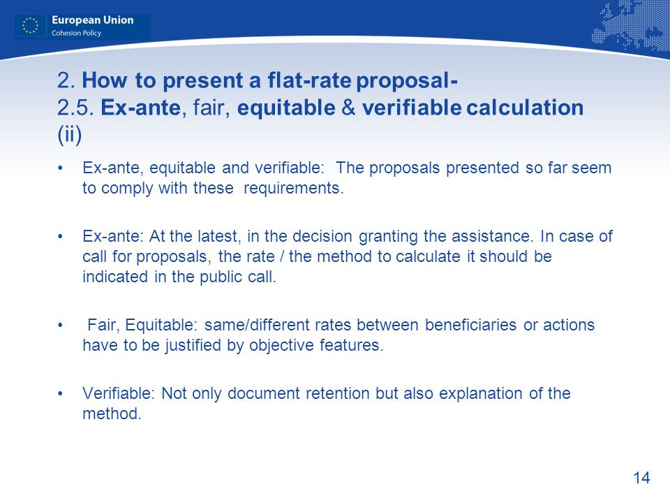 14 2. How to present a flat-rate proposal- 2.5.
