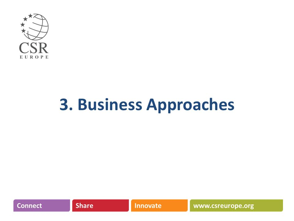 3. Business Approaches