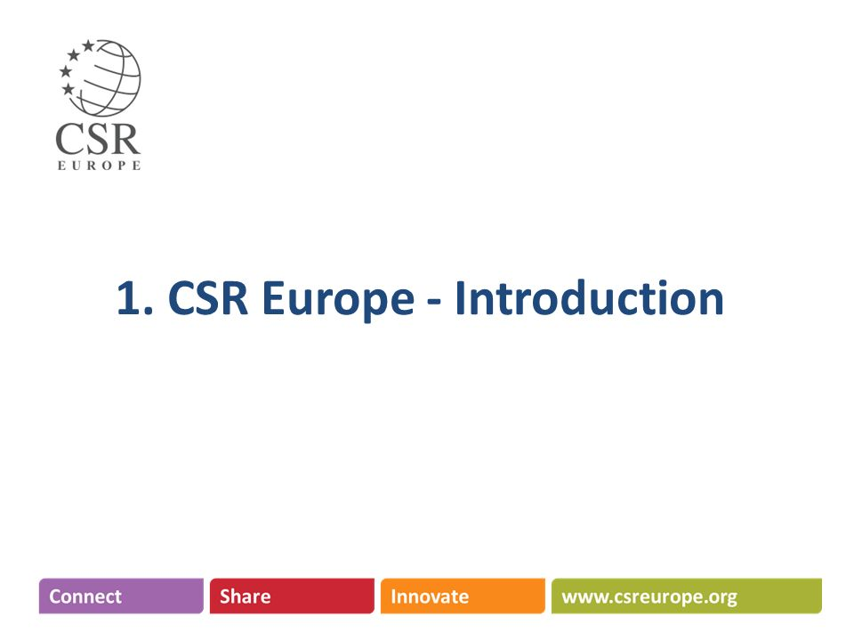 1. CSR Europe - Introduction