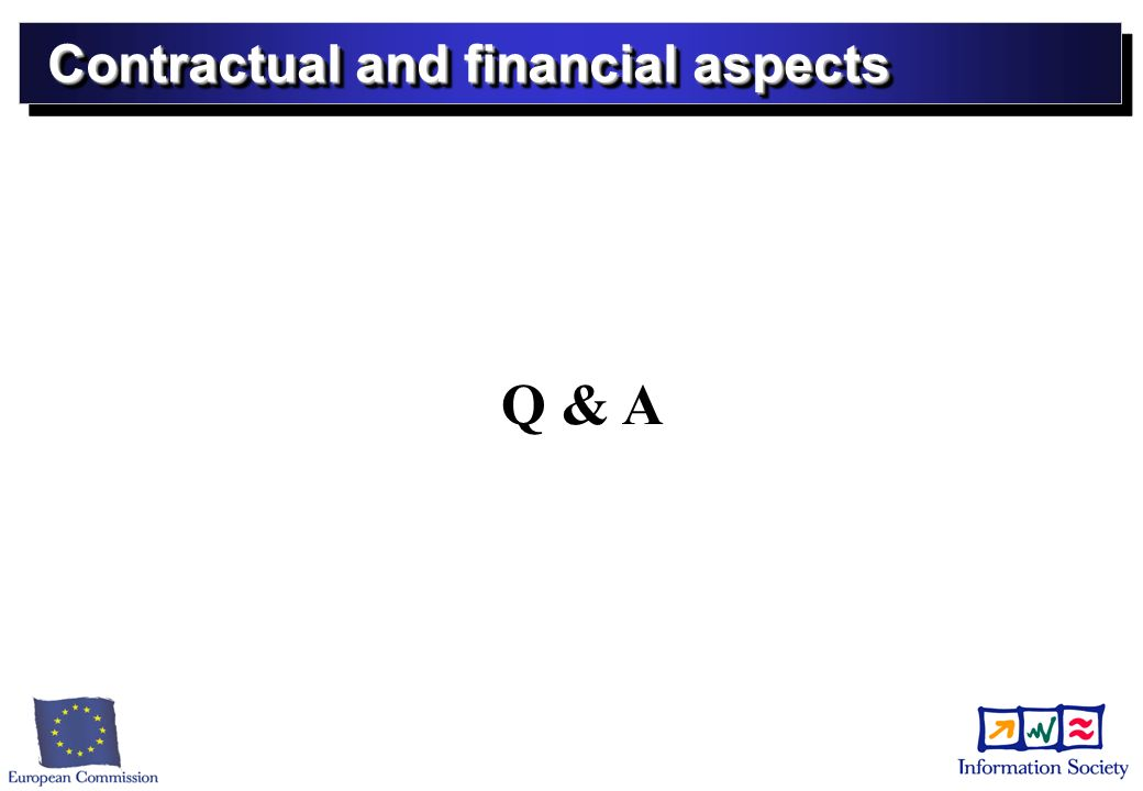 Contractual and financial aspects Q & A