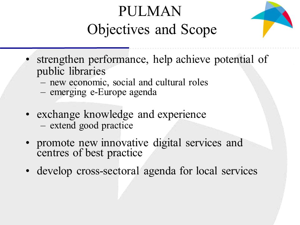 The PULMAN Guidelines Section 2 - Management performance measures and evaluation funding and financing co-operation and partnership copyright issues