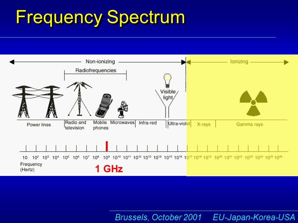 Brussels, October 2001 EU-Japan-Korea-USA Frequency Spectrum 1 fm 1 GHz