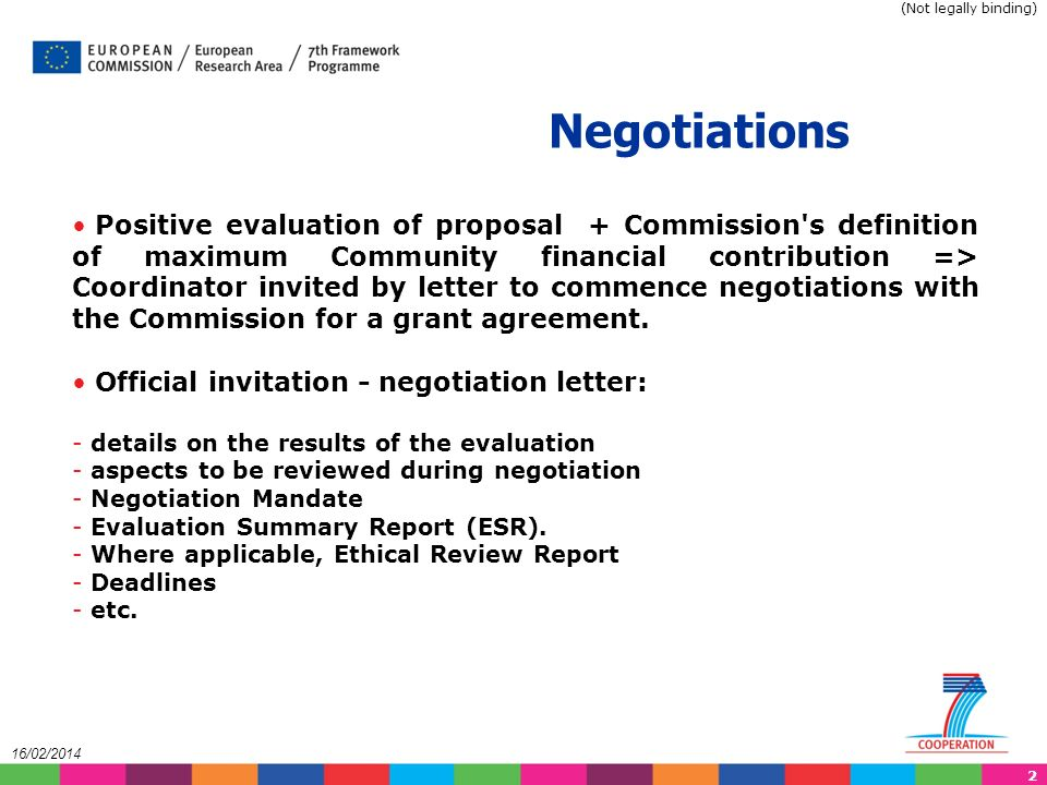 43 2/16/2014 Description of Work in NEF Detailed information in document of: Structure of Annex I to the Grant Agreement (Description of Work) Available on CORDIS webpage: http://cordis.europa.eu/fp7/find-doc_en.html under Templates for Description of Work (Not legally binding)