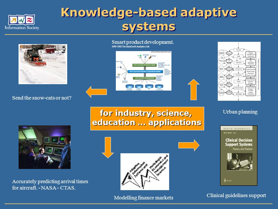 Knowledge-based adaptive systems Send the snow-cats or not.