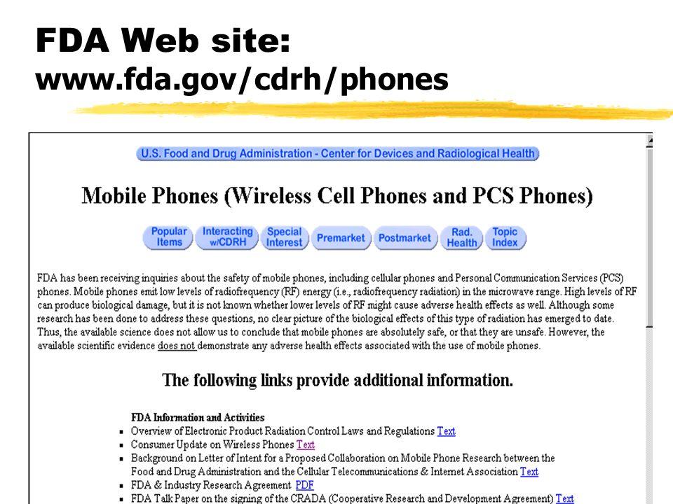 FDA Web site: www.fda.gov/cdrh/phones
