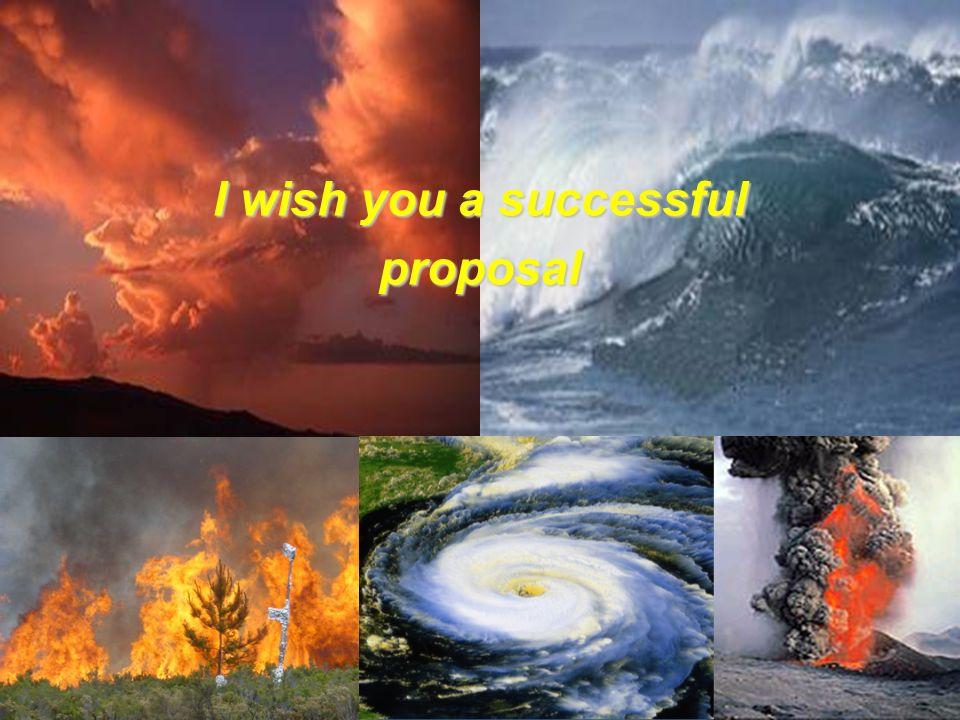 G.W I wish you a successful proposal