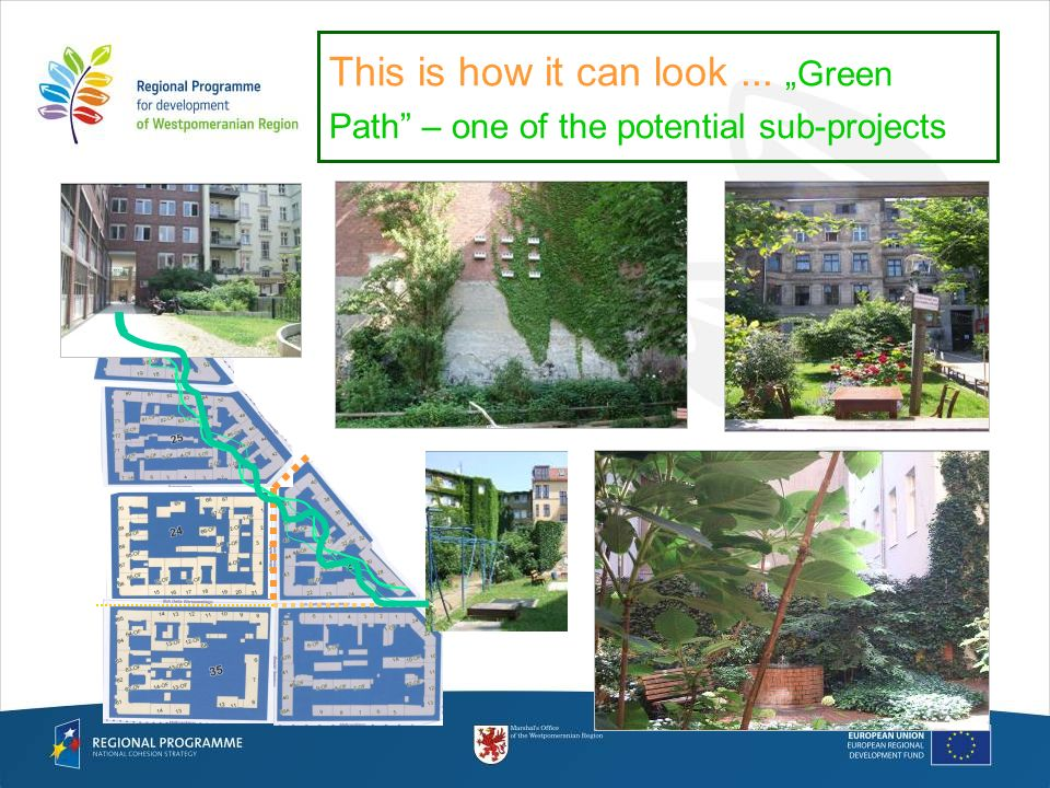 This is how it can look... Green Path – one of the potential sub-projects