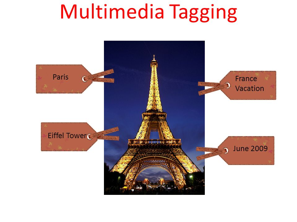 Multimedia Tagging Paris Eiffel Tower France Vacation June 2009