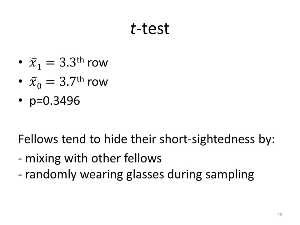 t-test 26