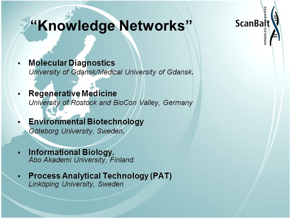Knowledge Networks Molecular Diagnostics University of Gdansk/Medical University of Gdansk.