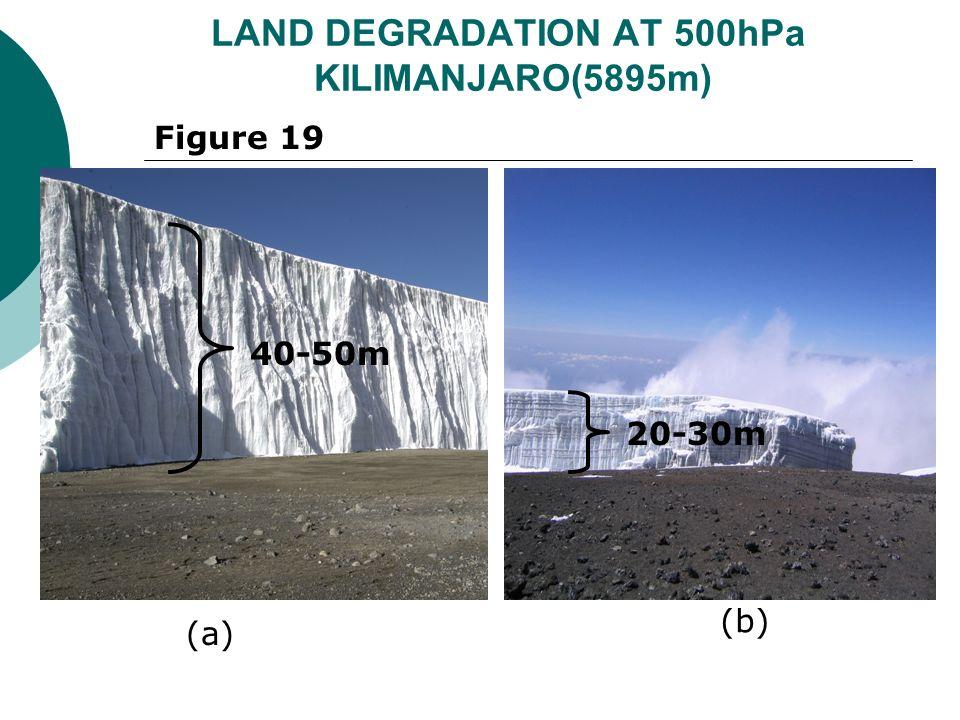 LAND DEGRADATION AT 500hPa KILIMANJARO(5895m) 20-30m Figure 19 (a) (b) 40-50m