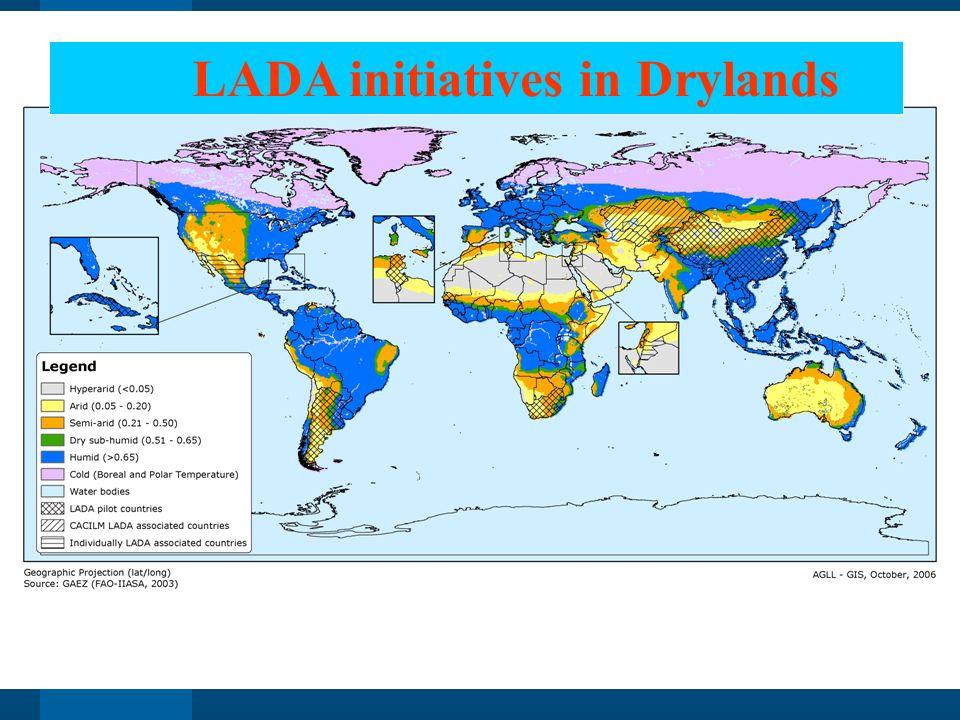 LADA initiatives in Drylands