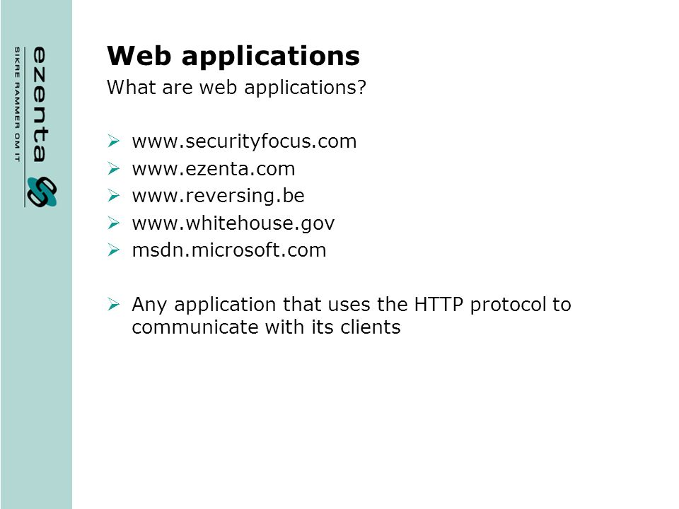 What are web applications.