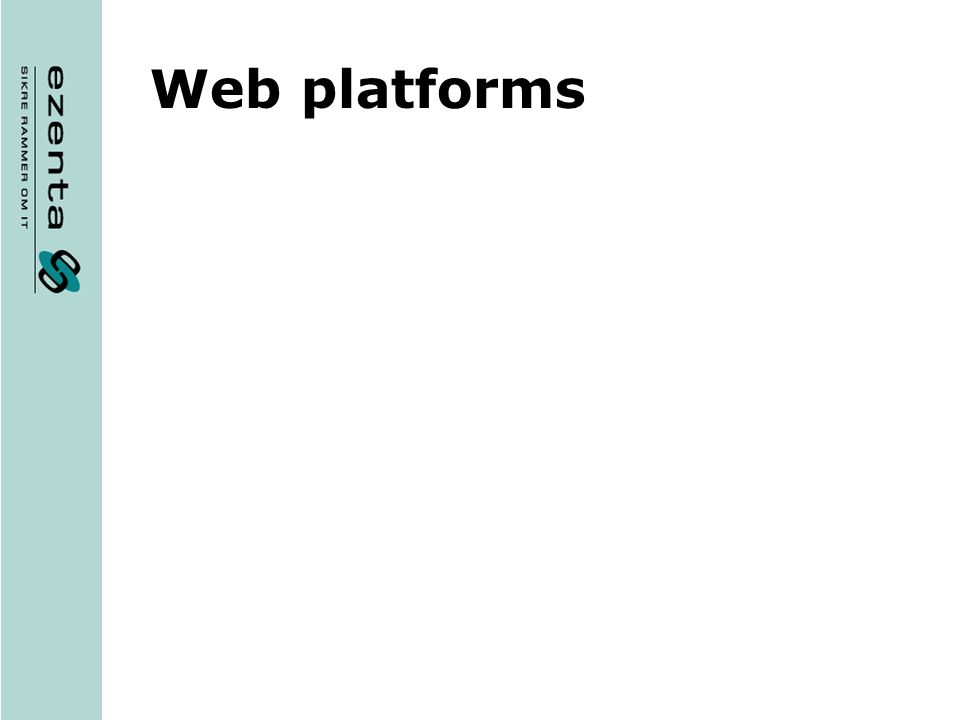 Web platforms