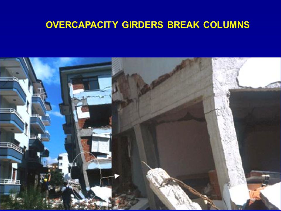 OVERCAPACITY GIRDERS BREAK COLUMNS