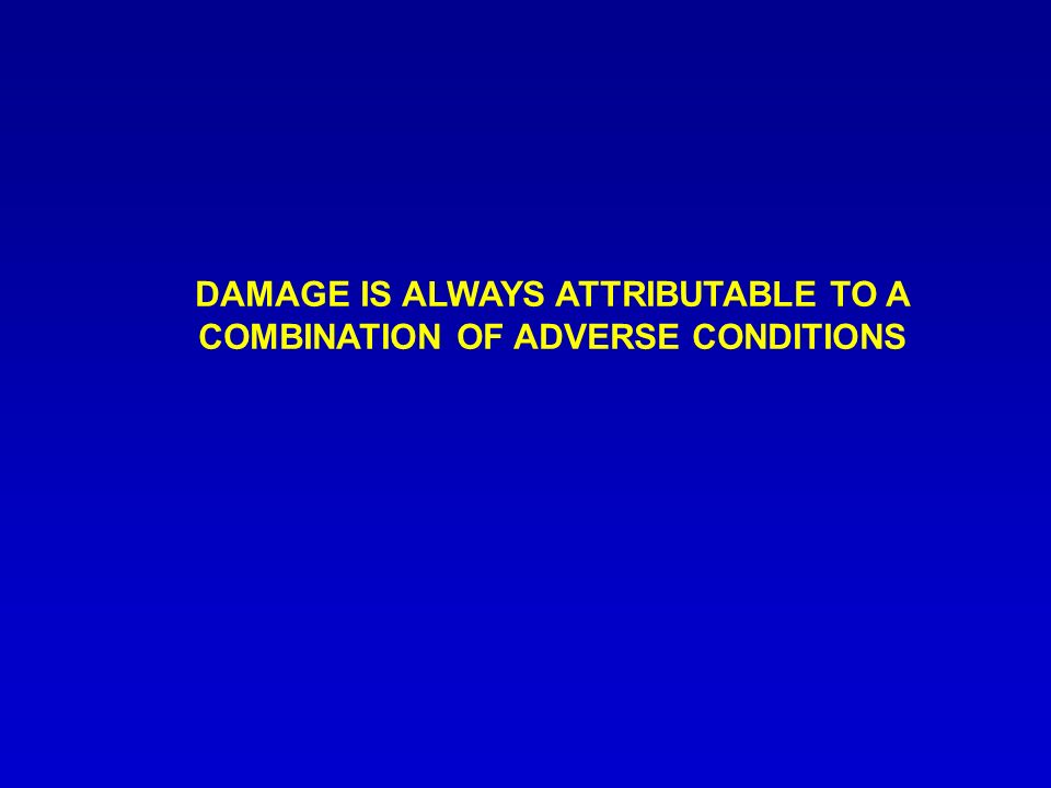 DAMAGE IS ALWAYS ATTRIBUTABLE TO A COMBINATION OF ADVERSE CONDITIONS