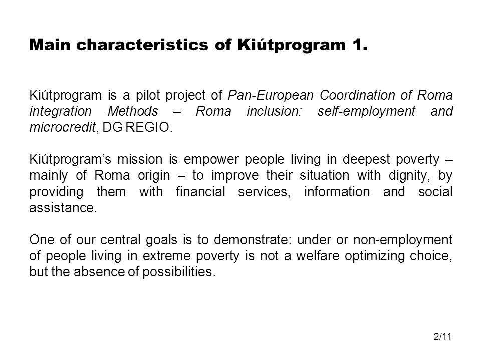 2/11 Main characteristics of Kiútprogram 1.