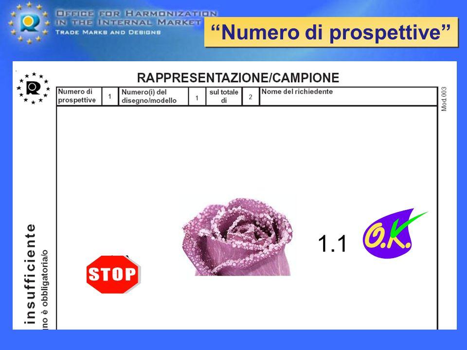 Numero di prospettive 1.1 1.A