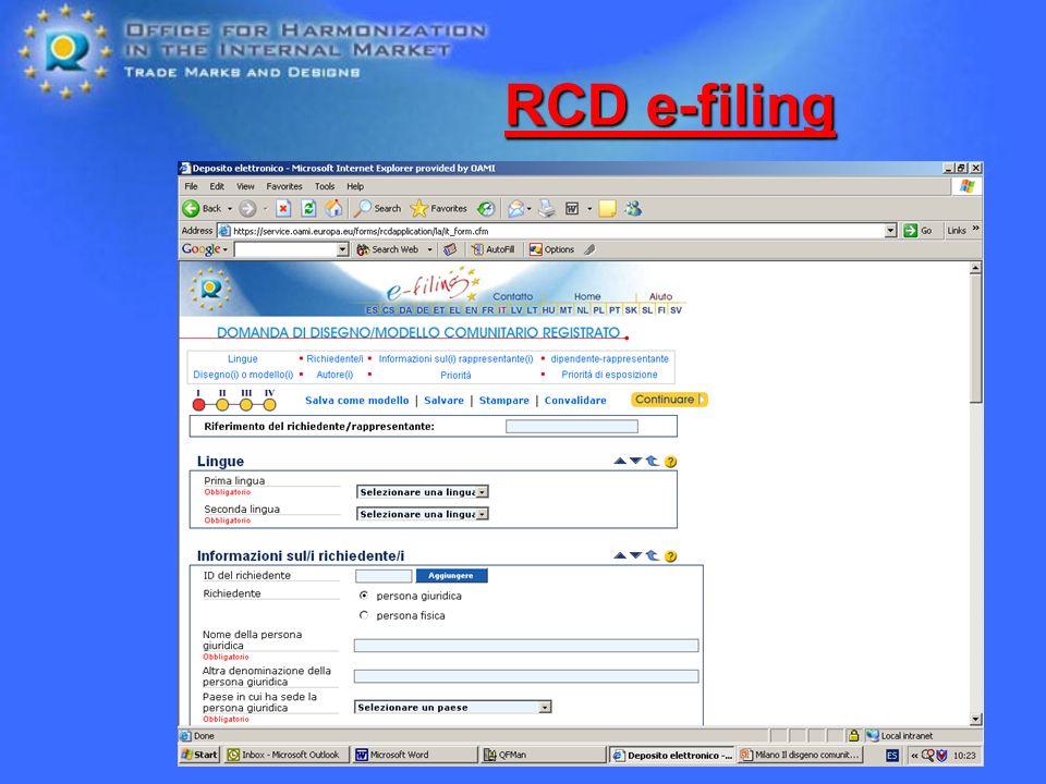 RCD e-filing RCD e-filing