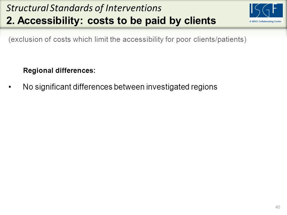 Structural Standards of Interventions 2.