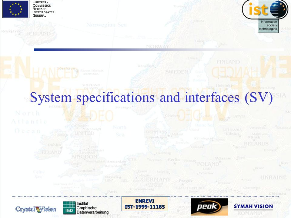 ENREVIIST-1999-11185 System specifications and interfaces (SV)