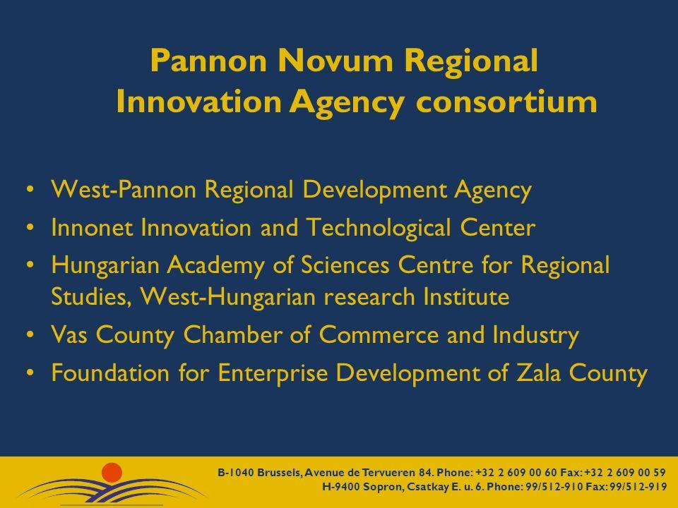 Pannon Novum Regional Innovation Agency consortium West-Pannon Regional Development Agency Innonet Innovation and Technological Center Hungarian Acade