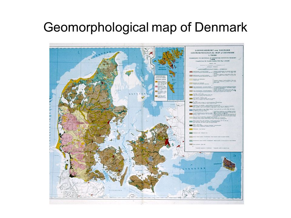 Geomorphological map of Denmark