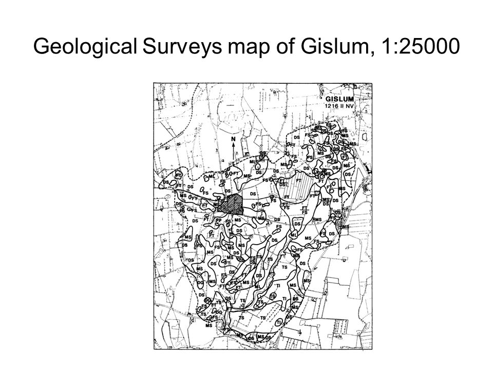 Geological Surveys map of Gislum, 1:25000