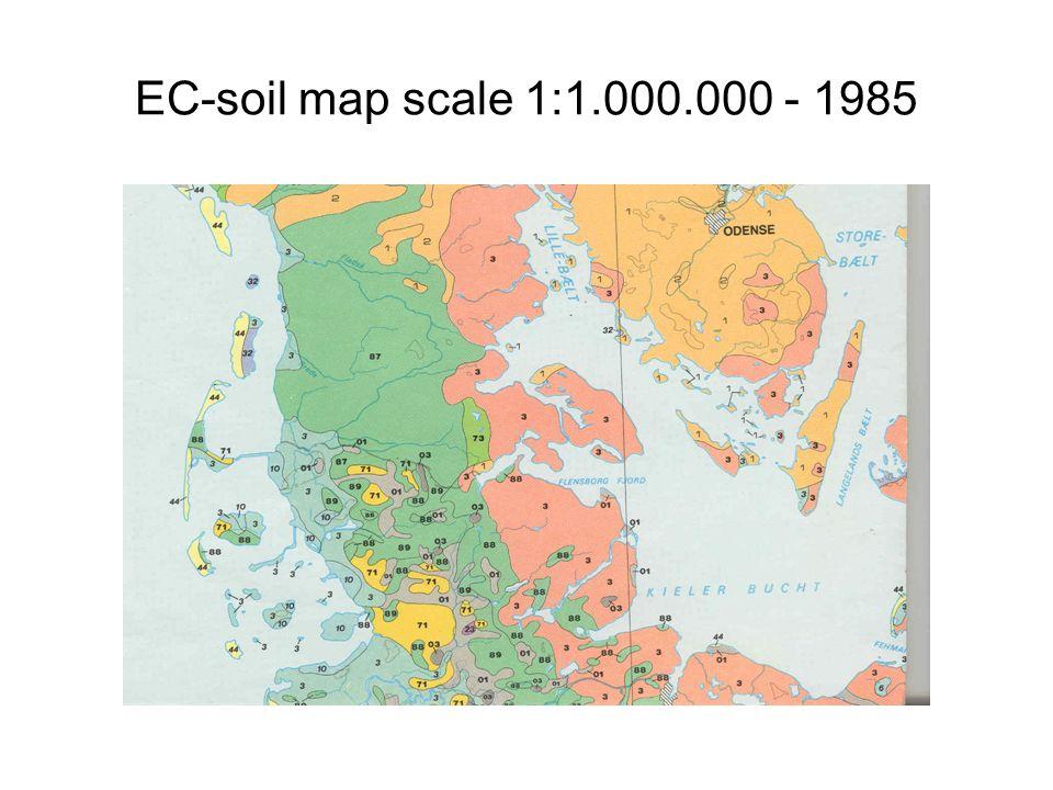 EC-soil map scale 1:1.000.000 - 1985