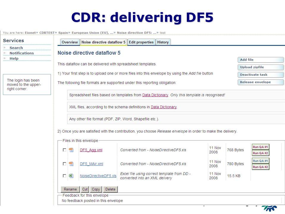 13 CDR: delivering DF5