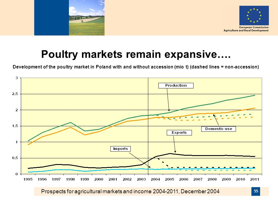 Prospects for agricultural markets and income 2004-2011, December 2004 55 Poultry markets remain expansive….