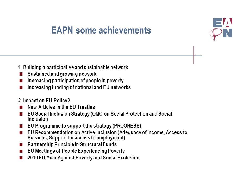 EAPN some achievements 1.