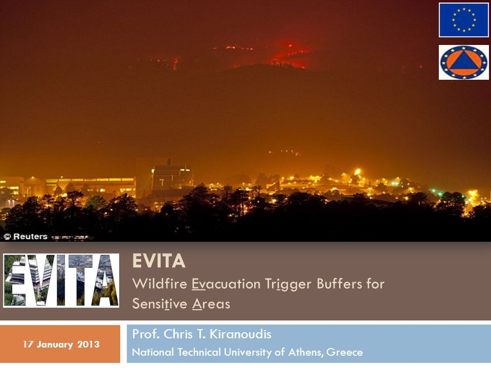EVITA Wildfire Evacuation Trigger Buffers for Sensitive Areas Prof.