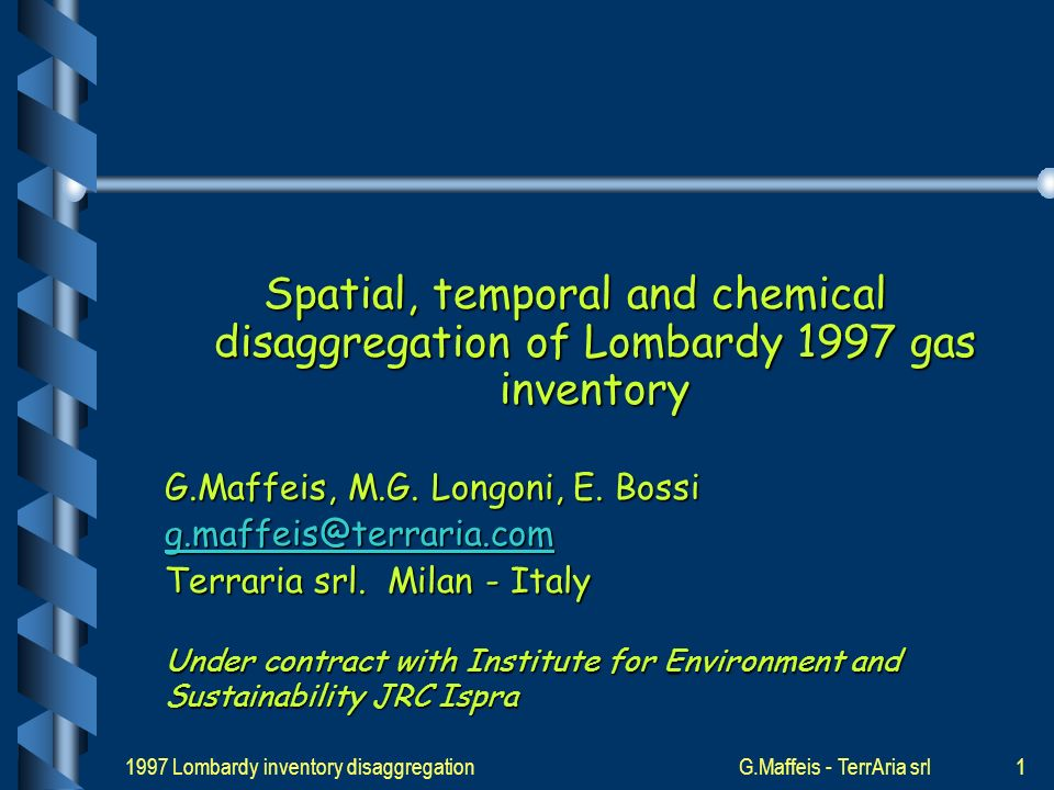 1997 Lombardy inventory disaggregationG.Maffeis - TerrAria srl21 VOC speciation SNAP4