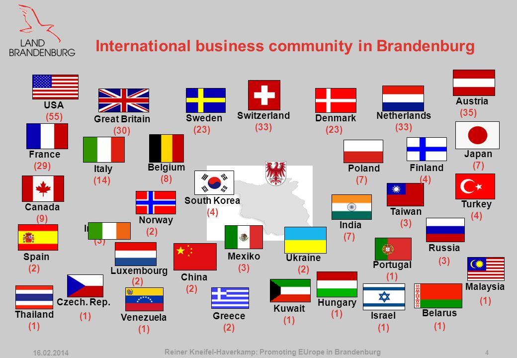 16.02.2014 3 Listen to the Region Contradictory messages Reiner Kneifel-Haverkamp: Promoting EUrope in Brandenburg State Chancellery