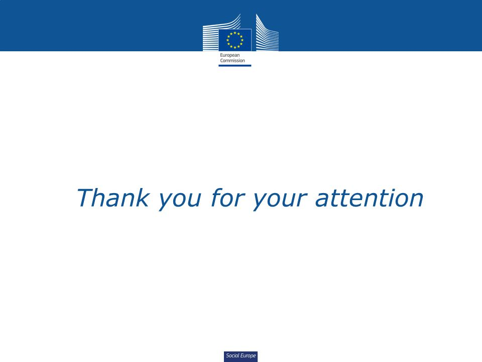 Social Europe Thank you for your attention