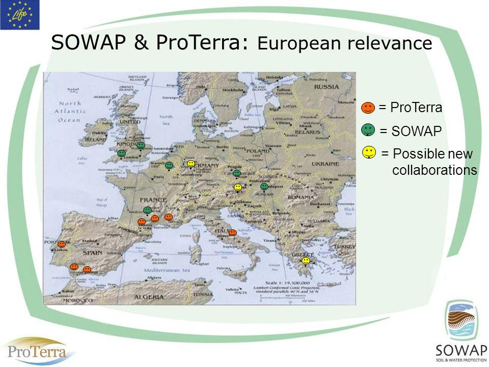SOWAP & ProTerra: European relevance...... = ProTerra = SOWAP. = Possible new collaborations....