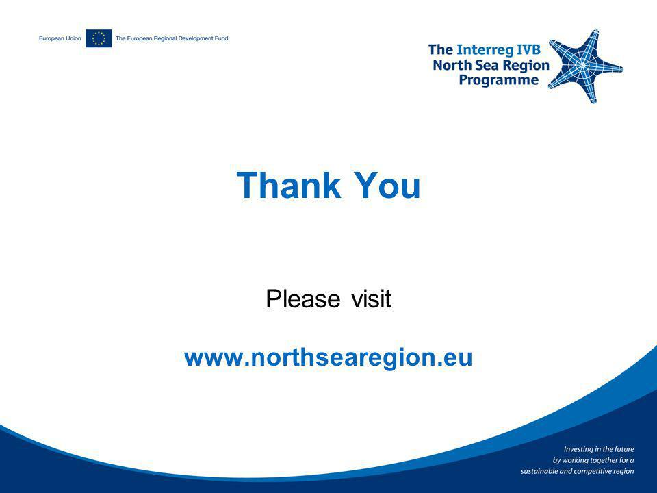 Thank You Please visit www.northsearegion.eu